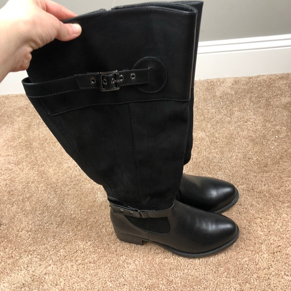 Torrid Black Riding Boots Wide Calf